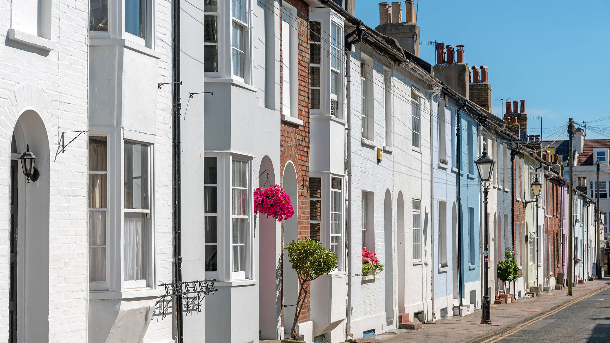 attractive terraced houses